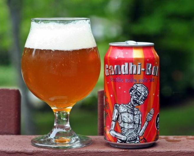 nombre de Gandhi en una cerveza