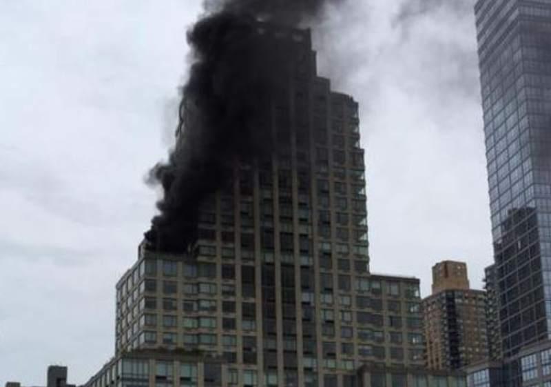 Incendio en edificio propiedad de Donald Trump
